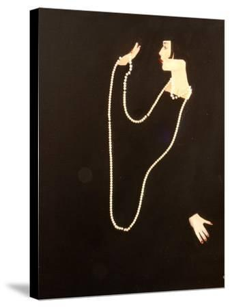 1920s Women Swinging Pearls, 2016-Susan Adams-Stretched Canvas Print