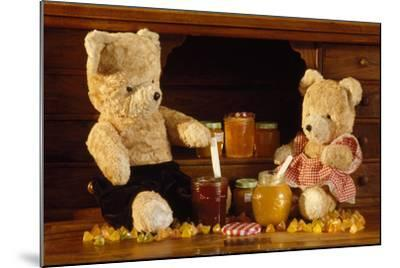 Teddy Bear with Honey and Jam--Mounted Photographic Print
