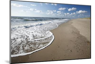 Waves Breaking on Empty Beach--Mounted Photographic Print