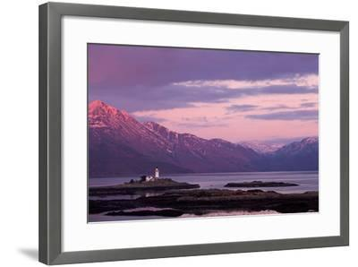 Evening Glow over the Lighthouse on the Isle of Ornsay--Framed Photographic Print