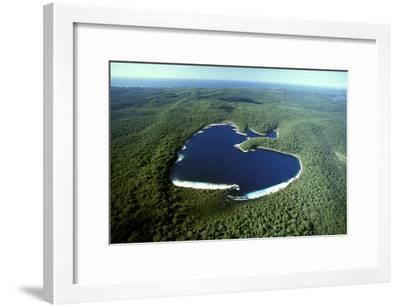Aerial Lake Mckenzie (Boorangoora) a Perched Lake--Framed Photographic Print