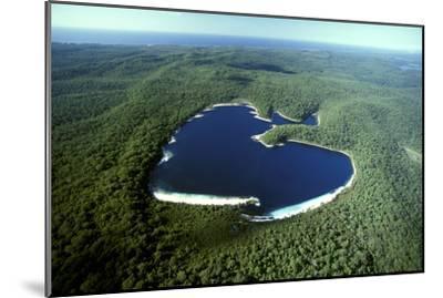 Aerial Lake Mckenzie (Boorangoora) a Perched Lake--Mounted Photographic Print