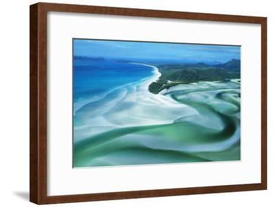 Australia Whitehaven Beach, Whitsunday Island--Framed Photographic Print
