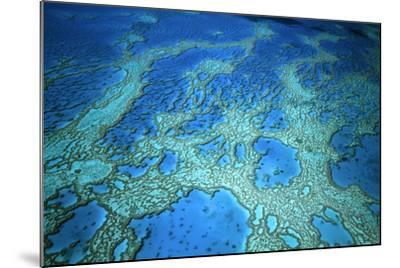 Hardy Reef Aerial of Coral Formations--Mounted Photographic Print