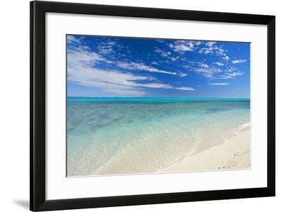 Dream Beach White Sandy Beach, Clear Turquoise--Framed Photographic Print