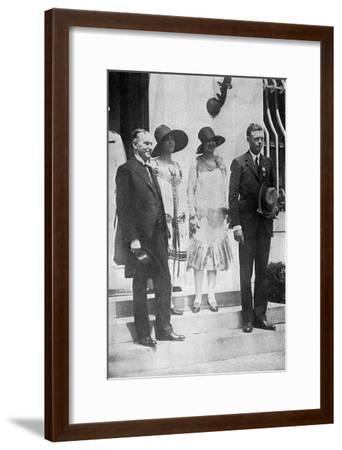 Lindbergh, White House--Framed Photographic Print