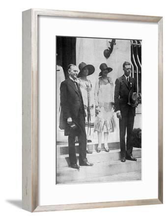 Lindbergh, White House--Framed Photographic Print