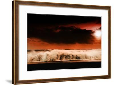 Digital Discord in Red.Jpg-Philippe Sainte-Laudy-Framed Photographic Print