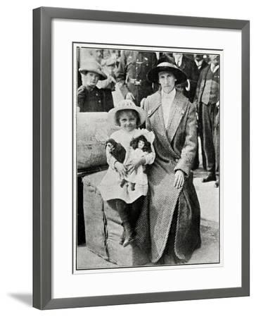 Little Girl Rescued from the 'Lusitania' 1915--Framed Photographic Print