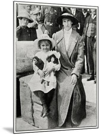 Little Girl Rescued from the 'Lusitania' 1915--Mounted Photographic Print