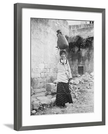 Water Carrier, Palestine--Framed Photographic Print