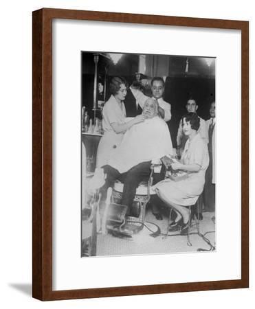 Pampered Old Man--Framed Photographic Print