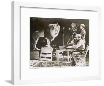 Mgm Lion--Framed Photographic Print