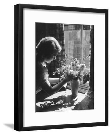 Arranging Flowers--Framed Photographic Print