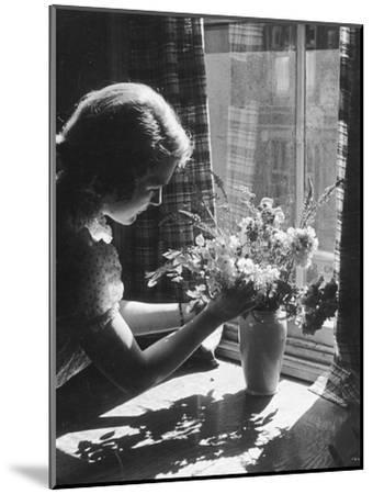 Arranging Flowers--Mounted Photographic Print