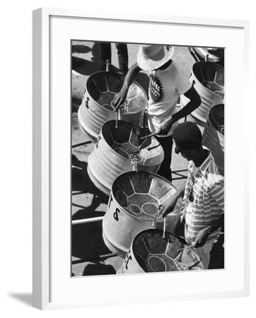 Trinidad Carnival Band--Framed Photographic Print
