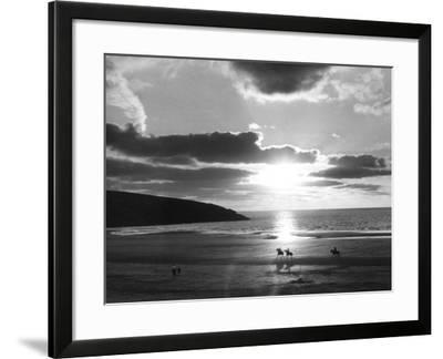 Crantock Bay Riders--Framed Photographic Print