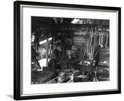 Blacksmith's Interior--Framed Photographic Print