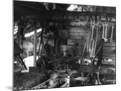 Blacksmith's Interior--Mounted Photographic Print