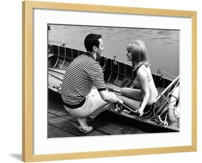 Couple Hire a Rowboat--Framed Photographic Print