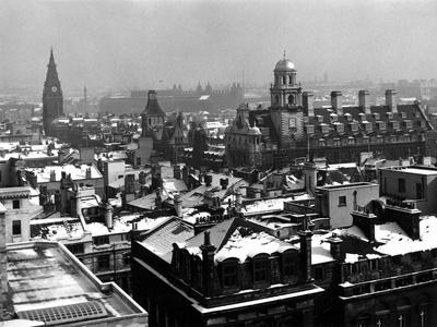 Snowy Liverpool--Framed Photographic Print