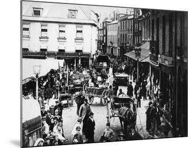 British Market Scene--Mounted Photographic Print