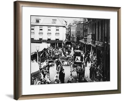 British Market Scene--Framed Photographic Print