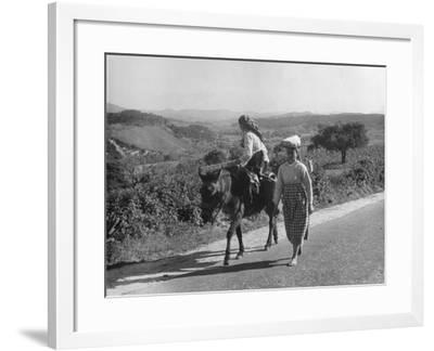 Portuguese Peasants--Framed Photographic Print