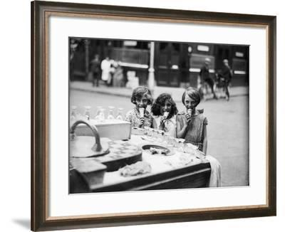 Kids Eating Ice Cream--Framed Photographic Print