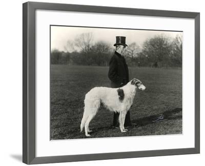 Thomas Fall with Borzoi-Thomas Fall-Framed Photographic Print