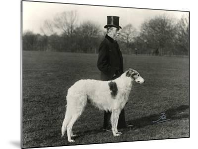 Thomas Fall with Borzoi-Thomas Fall-Mounted Photographic Print