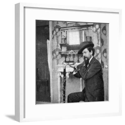 Debussy Photo-Pierre Louys-Framed Photographic Print