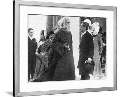 Tagore in Italy-A Bruni-Framed Photographic Print