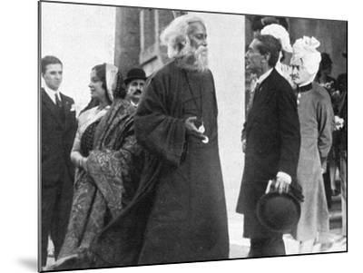 Tagore in Italy-A Bruni-Mounted Photographic Print