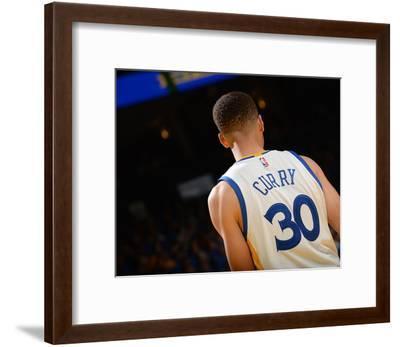 Stephen Curry #30 - Golden State Warriors vs Memphis Grizzlies, April 13, 2016-Noah Graham-Framed Photo