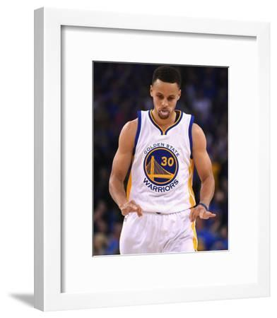 Stephen Curry #30 - Golden State Warriors vs Memphis Grizzlies, April 13, 2016-Thearon W. Henderson-Framed Photo