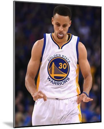 Stephen Curry #30 - Golden State Warriors vs Memphis Grizzlies, April 13, 2016-Thearon W. Henderson-Mounted Photo