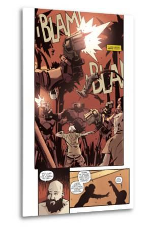 Zombies vs. Robots: No. 10 - Comic Page with Panels-Antonio Fuso-Metal Print