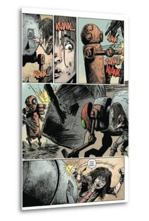 Zombies vs. Robots: Volume 1 - Comic Page with Panels-Val Mayerik-Metal Print
