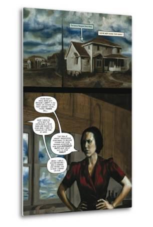 Zombies vs. Robots - Comic Page with Panels-Menton Matthews III-Metal Print