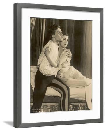 Marius Goring British Actor of Stage and Screen in the Role of Romeo with Peggy Ashcroft as Juliet- Debenham-Framed Photographic Print