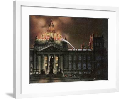 The Reichstag Destroyed by Fire--Framed Photographic Print