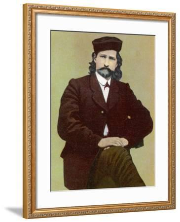 Wild Bill Hickok Alias James Butler American Frontiersman Stage Driver Scout and Us Marshal--Framed Photographic Print