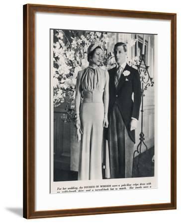 The Duke and Duchess of Windsor--Framed Photographic Print