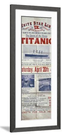 Titanic Poster--Framed Photographic Print
