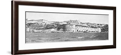 The Sedd El Bahr Forterss at the Entry to the Dardanelles During World War I-Robert Hunt-Framed Photographic Print