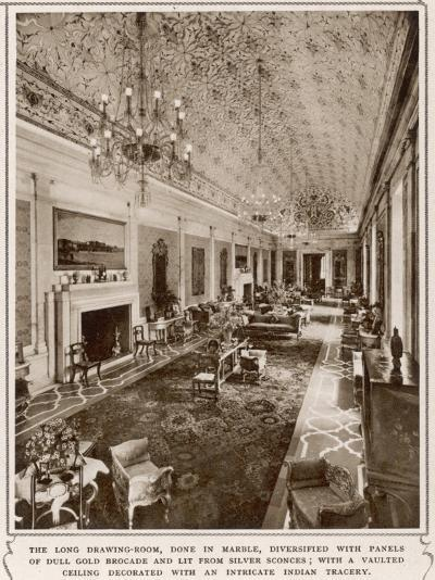 Viceroy's House in New Delhi, the Long Drawing-Room--Photographic Print