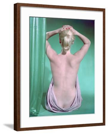 Blonde with Ponytail-Charles Woof-Framed Photographic Print