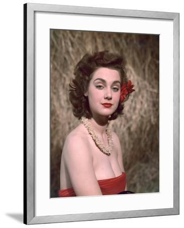 Hibiscus Girl 1950s-Charles Woof-Framed Photographic Print