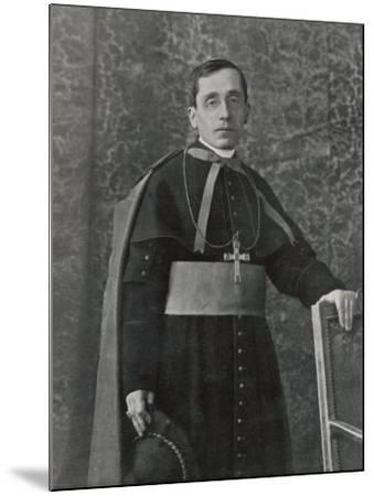 Pope Benedictus XV (Giacomo Della Chiesa) at the Time of His Election--Mounted Photographic Print